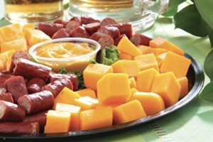 Photo of meat and cheese tray