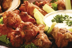Photo of chicken wing tray